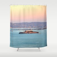 infamous Shower Curtains featuring ALCATRAZ by Teresa Chipperfield Studios