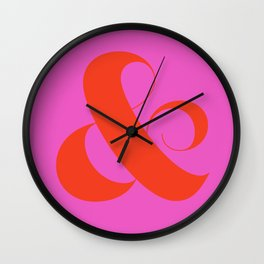 Hot Ampersand Wall Clock