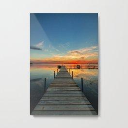Dock at Lake Monona Metal Print