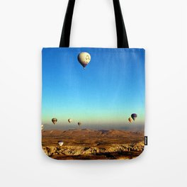 Hot Air Balloons (Color) Tote Bag