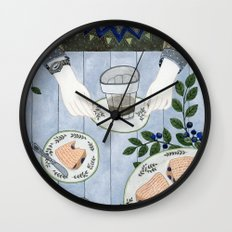 Blueberry Scones Wall Clock