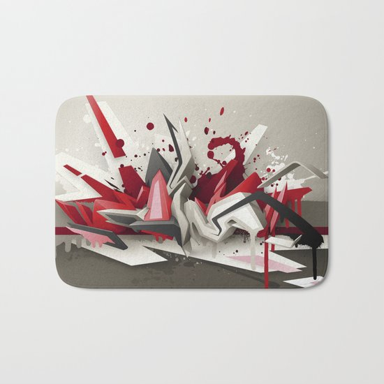 Red Metal Bath Mat