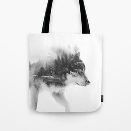 Wolf Stalking Tote Bag