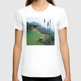 Rustic African Eco Lodge on Misty Mountaintop T-shirt