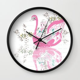 Swan Girl Wall Clock