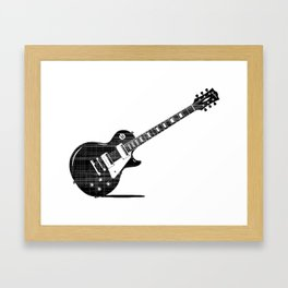 Black Guitar Framed Art Print