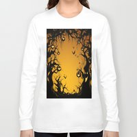 scary Long Sleeve T-shirts featuring SCARY HALLOWEEN by Acus