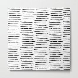 Pattern Abstrait Lignes Metal Print