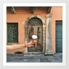 Marostica with a cherry on top Art Print