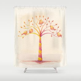 April Tree Shower Curtain