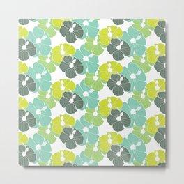 Hibiscus in Lime Metal Print