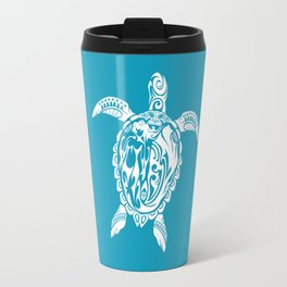 Tribal Honu (white) Travel Mug