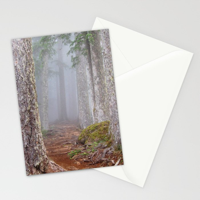 Foggy Forest Stationery Cards