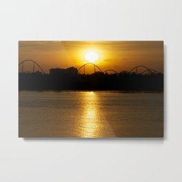 Sunset on Montreal Metal Print