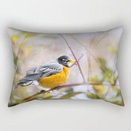 Spring Robin Rectangular Pillow