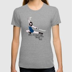 No Power in the 'Verse LARGE Womens Fitted Tee Tri-Grey