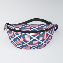Mix of flag : usa and scotland Fanny Pack