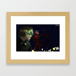 Patrol night - Miraculous Framed Art Print