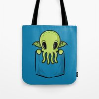 Pocket Cthulhu Tote Bag