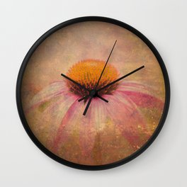 Cone Flower Dream Wall Clock