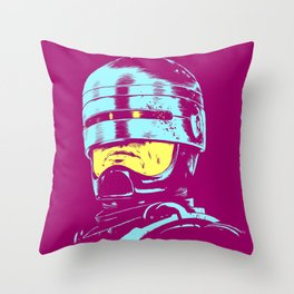 Robocop (neon) Throw Pillow