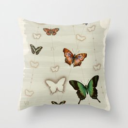 Butterfly Coordinates iii Throw Pillow