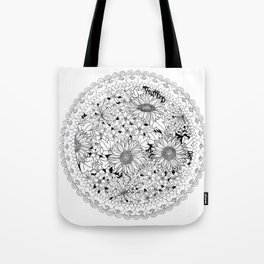 Sunflowers in a mandal Tote Bag