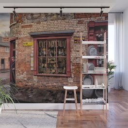 British Vintage Shop Wall Mural