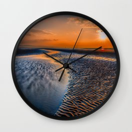 Seashore Sunset Wall Clock