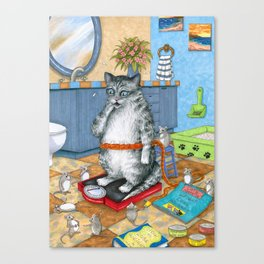 Overweight cat Canvas Print