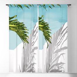 Palms In My Tropical Backyard Blackout Curtain