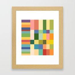 Soft Color Gradient Framed Art Print