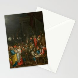 FRANCKEN, HIERONYMUS III (1611 Antwerp after 1661) Christ before Annas and the denial of Saint Peter Stationery Cards