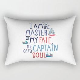 Nautical Typography Rectangular Pillow