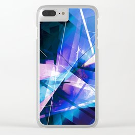 Prizism - Geometric Abstract Art Clear iPhone Case