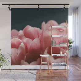 Tulips On Blue Wall Mural