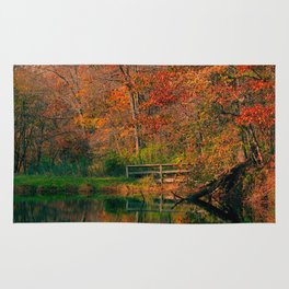 Fall At Oak Creek Pond Rug
