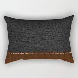 Black Leather look Rectangular Pillow