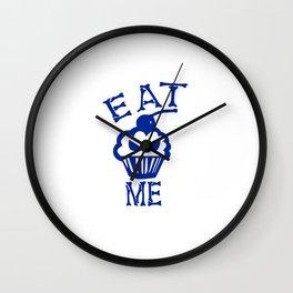 Eat Me (Blue Version) Wall Clock