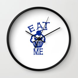 Eat Me (Blue Version) Wall Clock