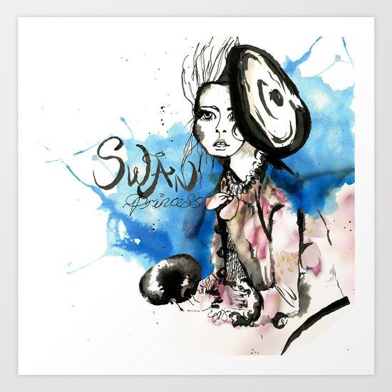 Swan Princess Art Print