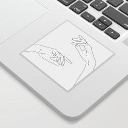 Hands line drawing - Bel Sticker
