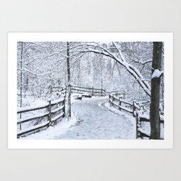 Snowfall at Brickworks on Christmas Day, 2020. LXVIII Art Print
