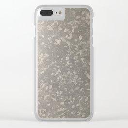 Zinc Silver Clear iPhone Case