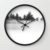 minnesota Wall Clocks featuring Minnesota Grown  by Irislynn