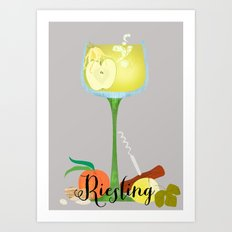 Riesling Art Print