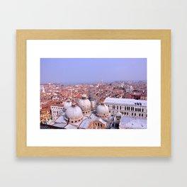 Venice Rooftops Framed Art Print