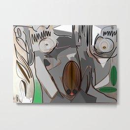 Eucalyptus Veneer Metal Print