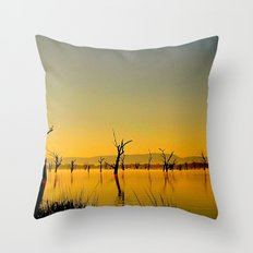 Scupltures in the Lake Throw Pillow