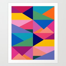 Geometric Color Block Art Print